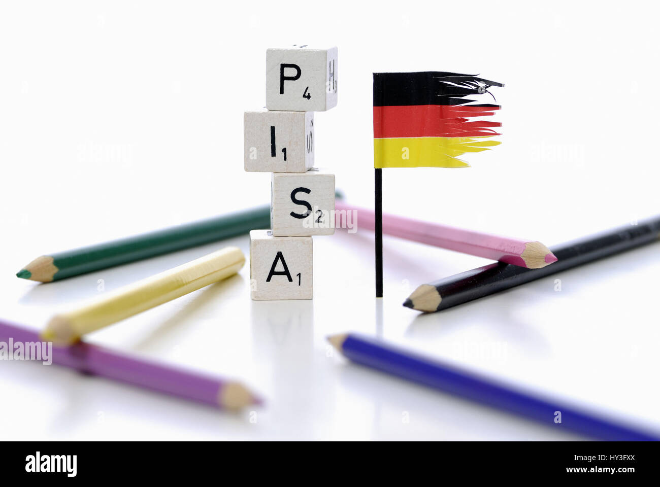 Pisa study, Pisa, study, studies, Germany, badly, education, educational plight, school, schools, bad, bad, stupidly, silly, Sch¸ler, educational term Stock Photo