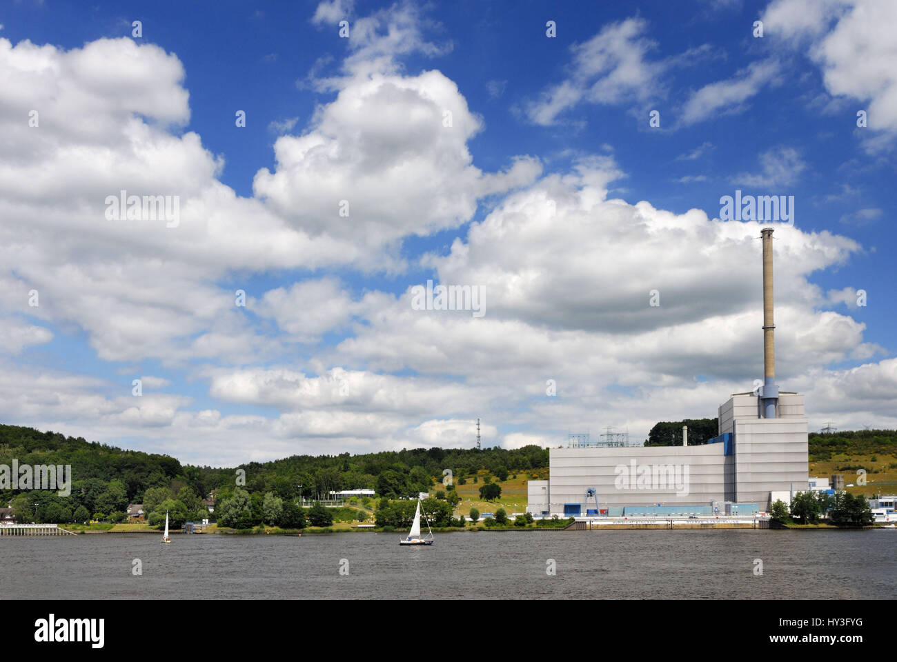 KKW Kr?mmel in Geesthacht, Schleswig - Holstein, Germany, KKW Krümmel in Geesthacht, Schleswig-Holstein, Deutschland - Stock Image