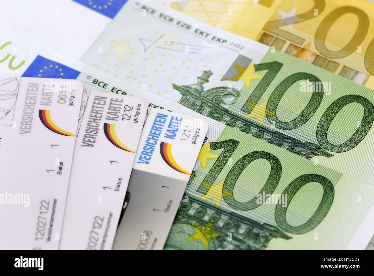 Additional contribution to the health insurance, Zusatzbeitrag zur Krankenversicherung - Stock Image