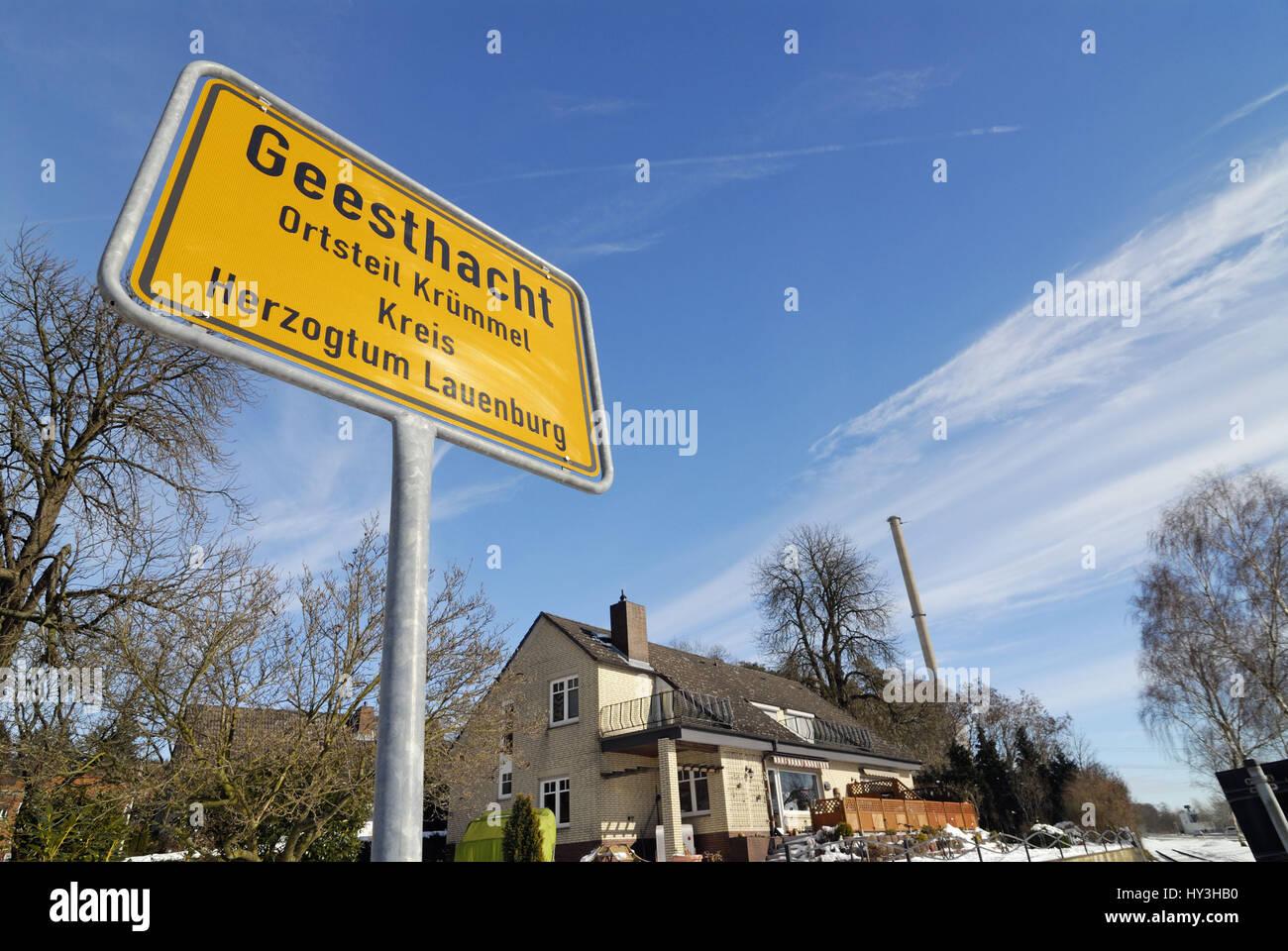 KKW Kr?mmel in Geesthacht, Schleswig - Holstein, KKW Krümmel in Geesthacht, Schleswig-Holstein - Stock Image