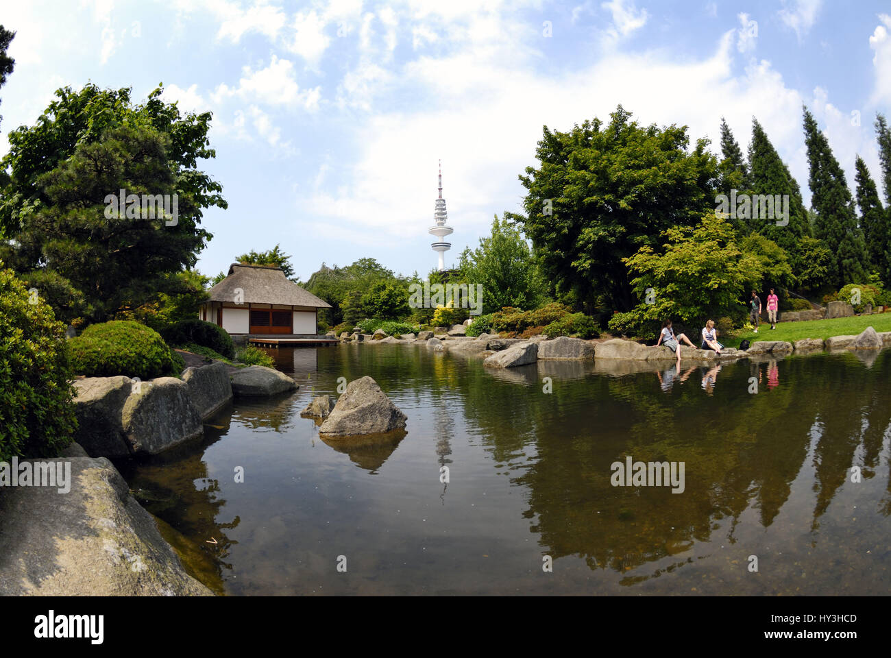 Japanese Garden In The Park Planning Un Blomen In Hamburg Germany