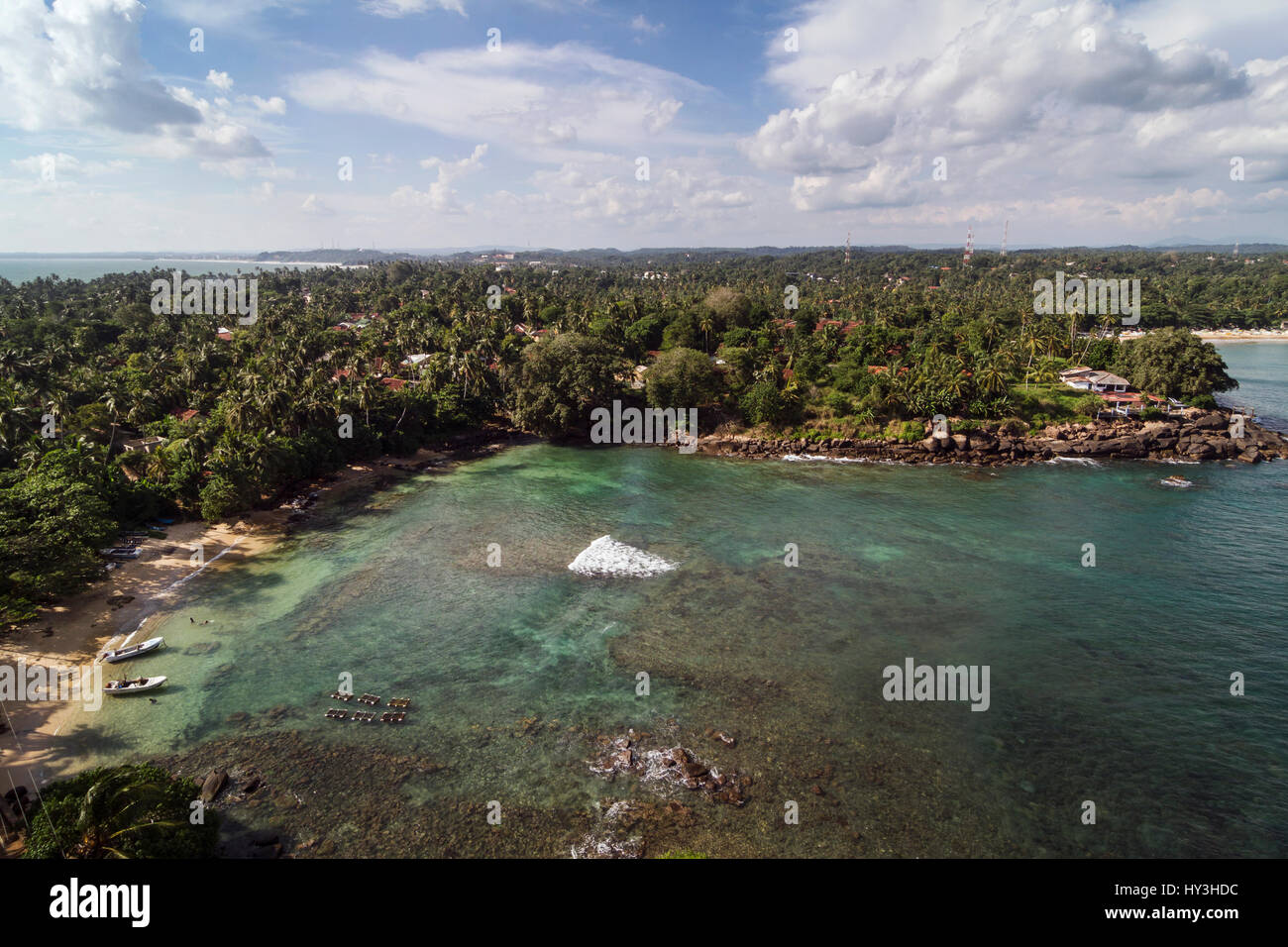 Colorful landscape of Sri Lanka coastline - Stock Image