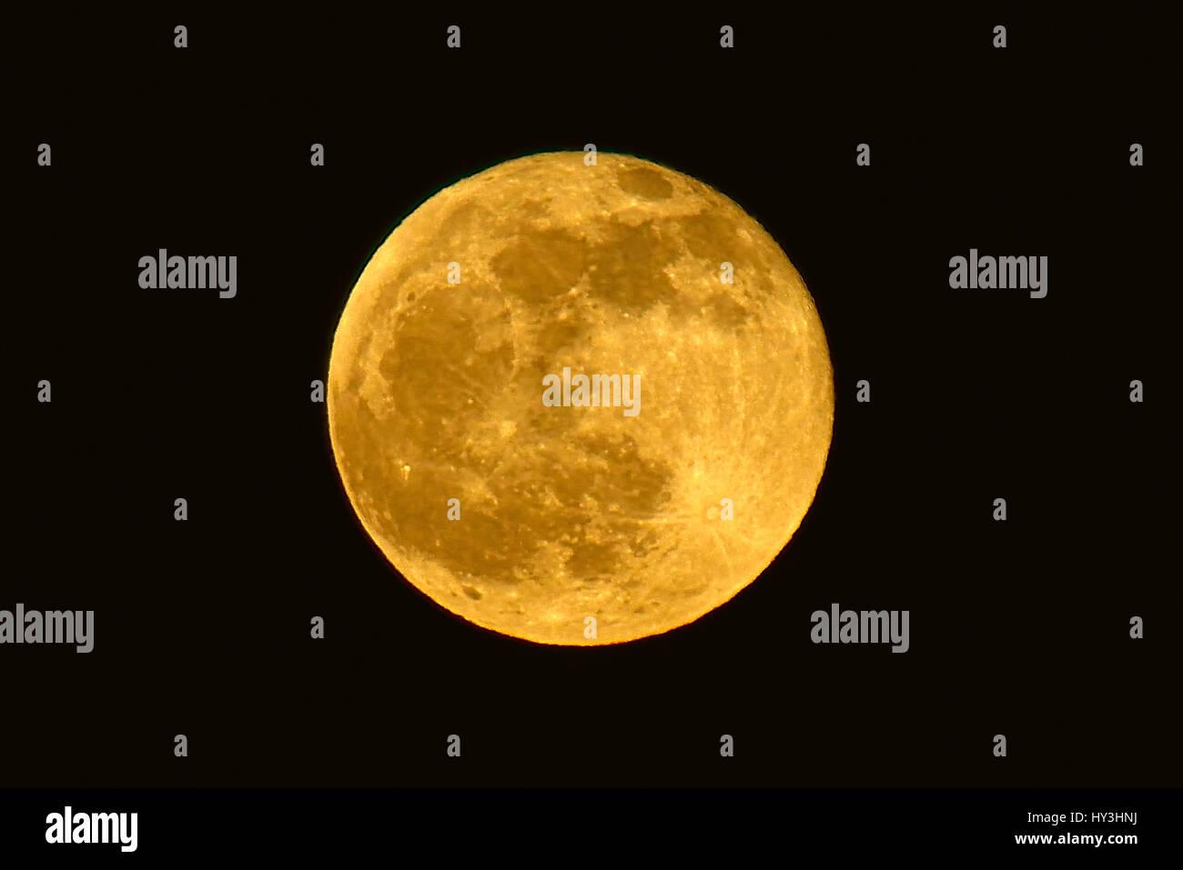 Full moon, Vollmond - Stock Image