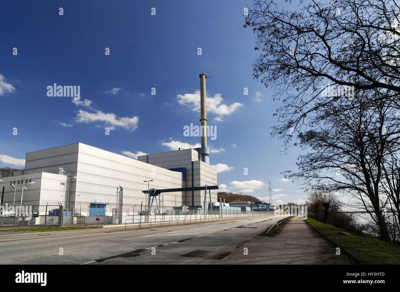 KKW Kr?mmel in Geesthacht, Schleswig - Holstein, Germany, Europe, KKW Krümmel in Geesthacht, Schleswig-Holstein, - Stock Image