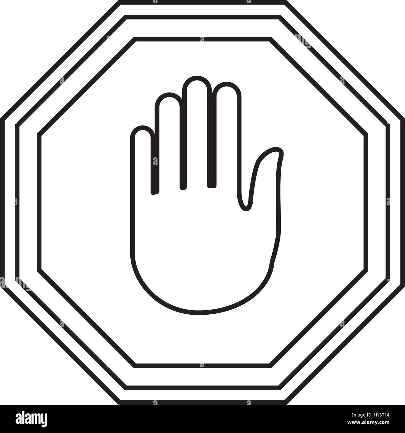 Stop Sign Hand Vector Icon Illustration Clipart Stock Vector Art