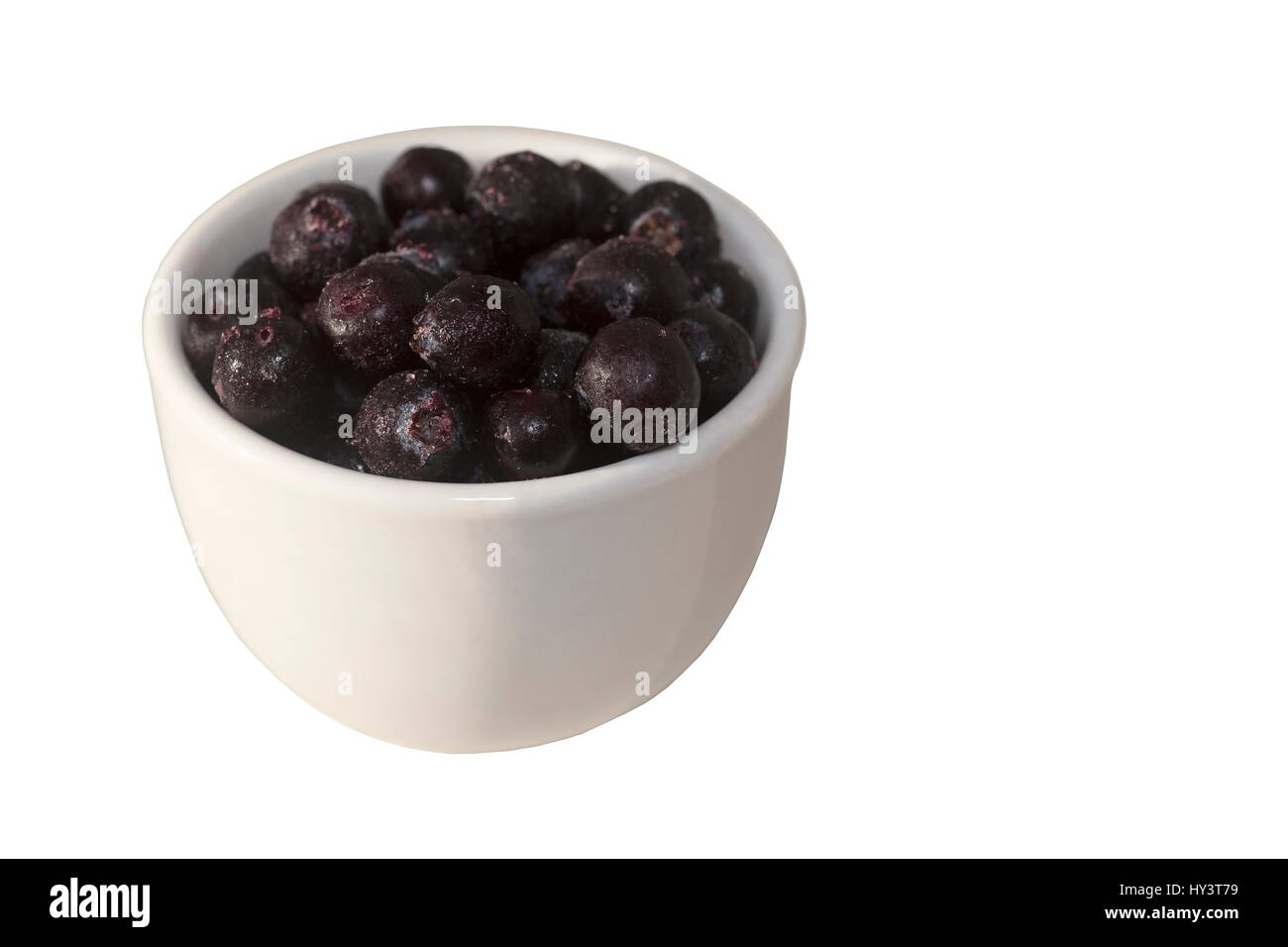 Small bowl of saskatoon berries (june berries), a traditional food of North American Indians - Stock Image