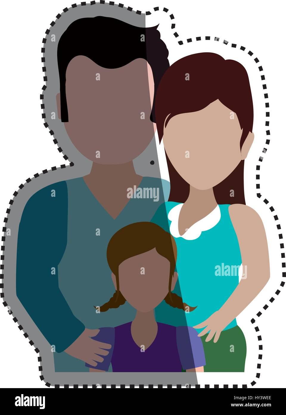People relationships and family - Stock Image