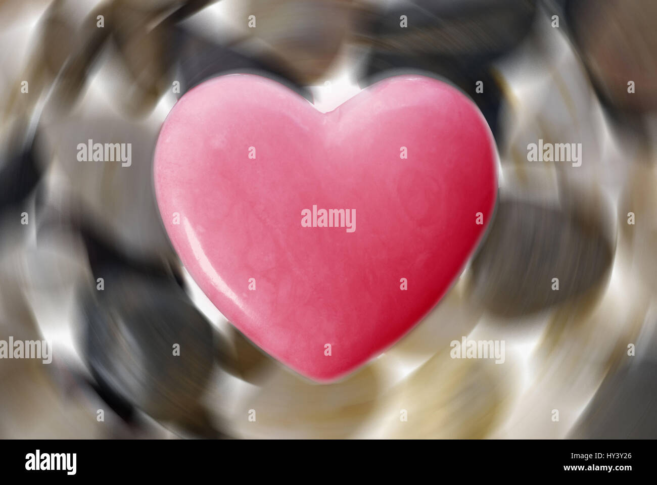 Red heart, Rotes Herz - Stock Image