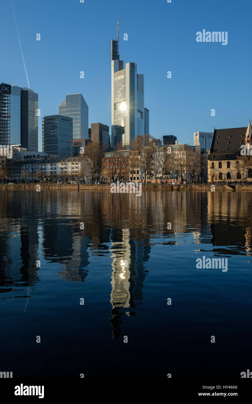 Reflection Of Buildings In City - Stock Image