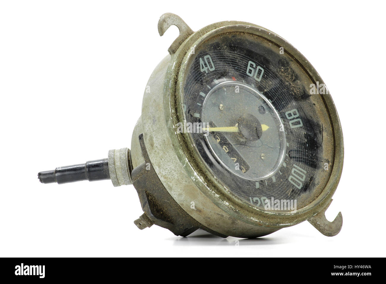 spare part speedometer for classic car - Stock Image