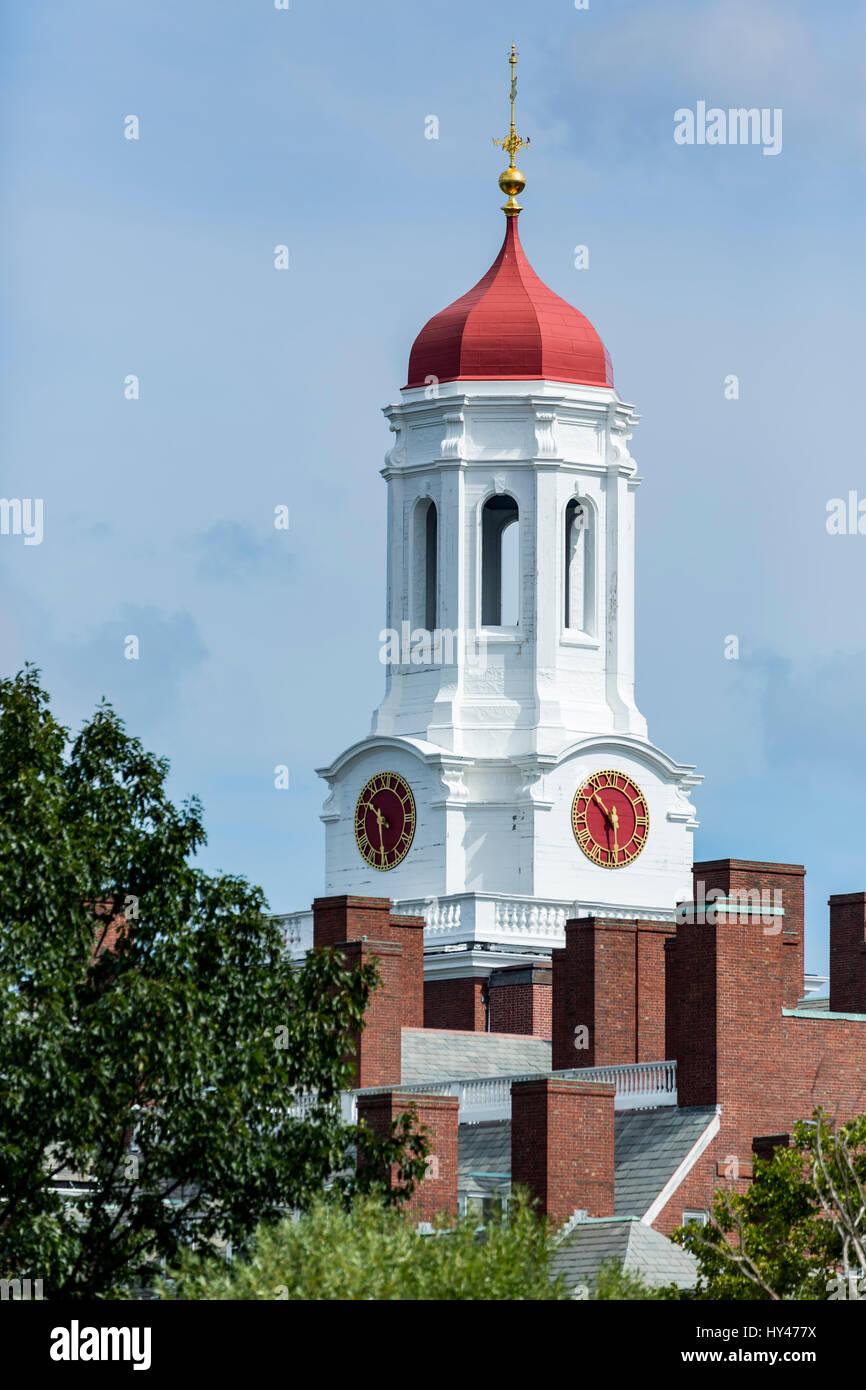 Clock Tower Howard University Cambridge Boston Area Stock Photo