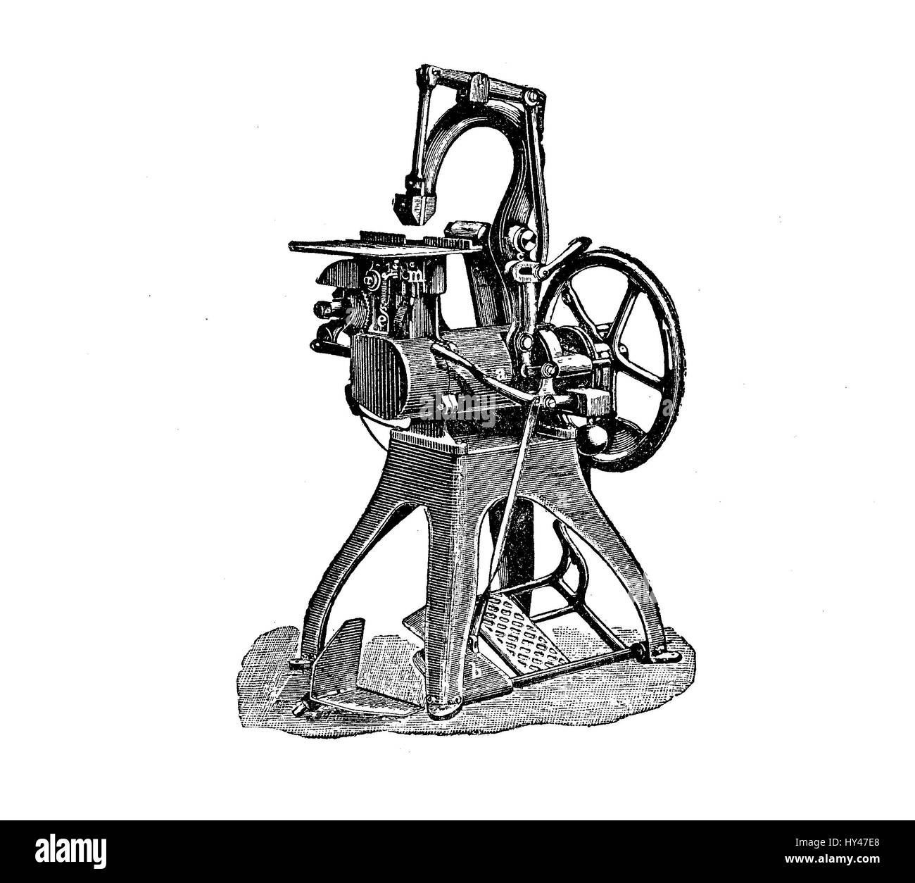 Wire Binding Machine For Press Production Vintage Engraving