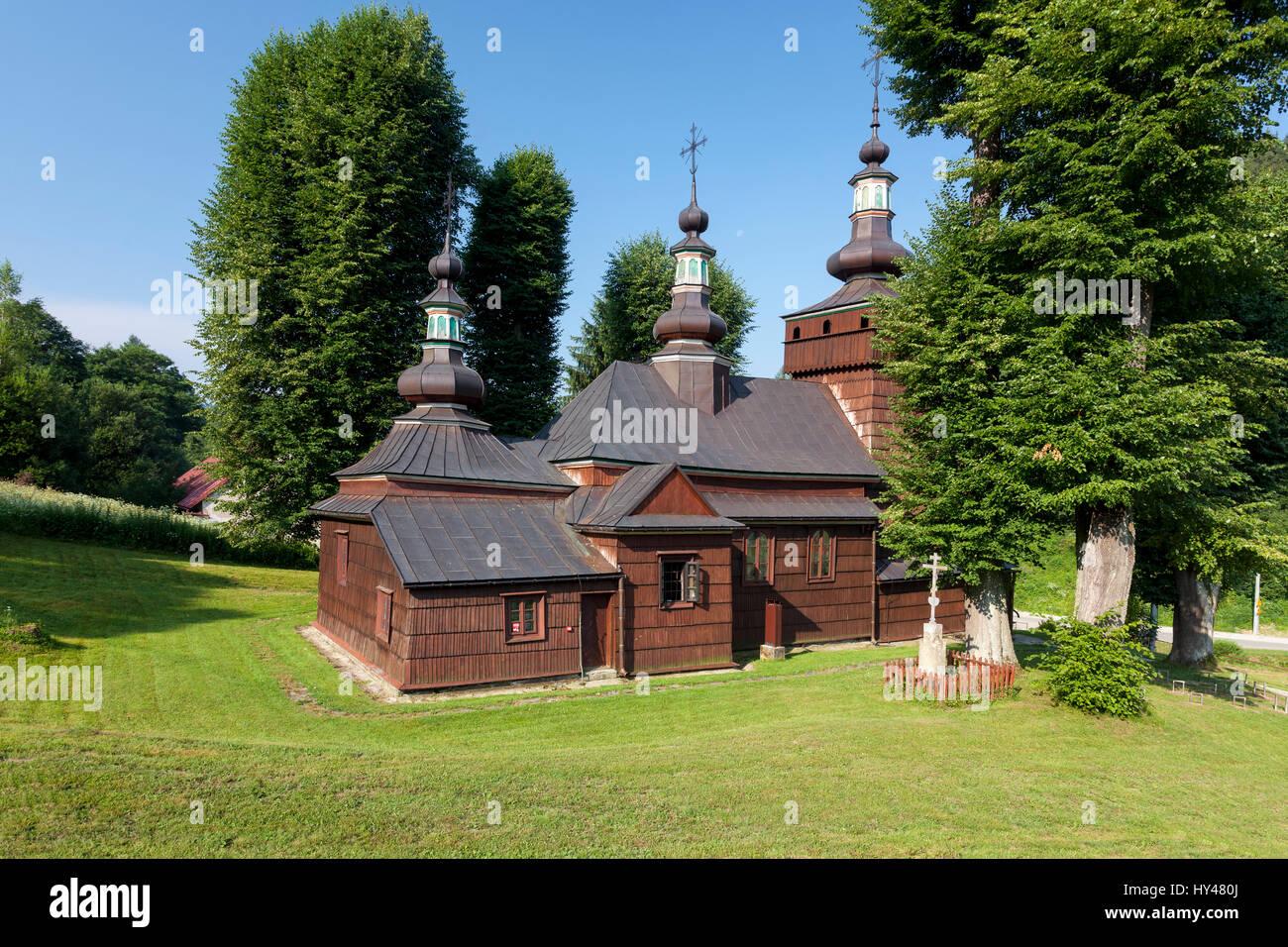 Milik, 19th century church, wooden architecture, Malopolska, Poland. - Stock Image