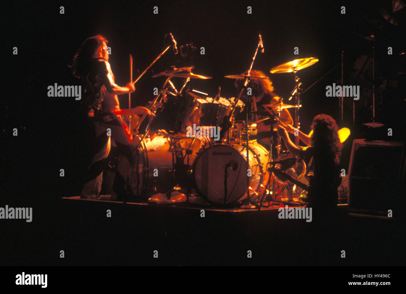 Van Halen The Classic Lineup Of David Lee Roth Edward Van Halen Stock Photo Alamy