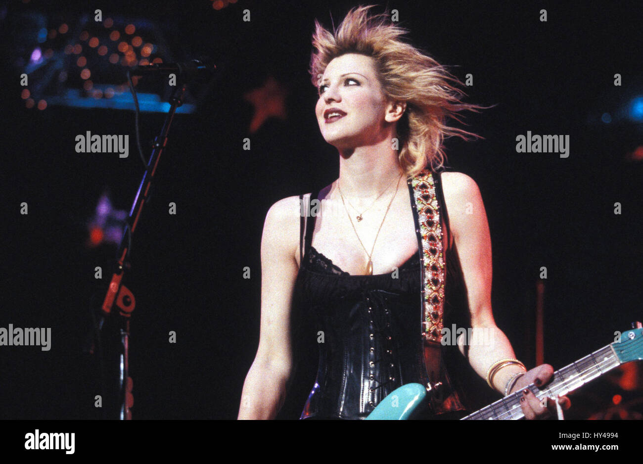 Courtney Love performing at Lollapalooza 1995 at Irvine Meadows Amp. in Irvine, CA. August 15, 1995.   Credit: Kevin - Stock Image