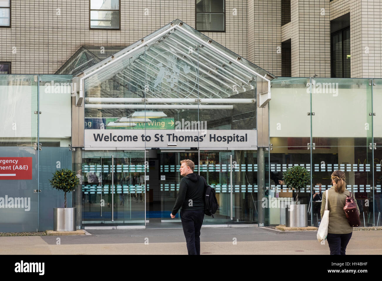 St.Thomas' Hospital, Borough of Lambeth, London, England, U.K. - Stock Image