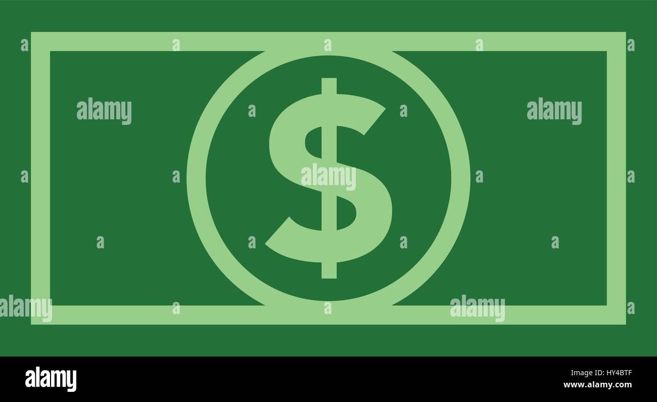 Dollar bill icon flat color - Stock Vector