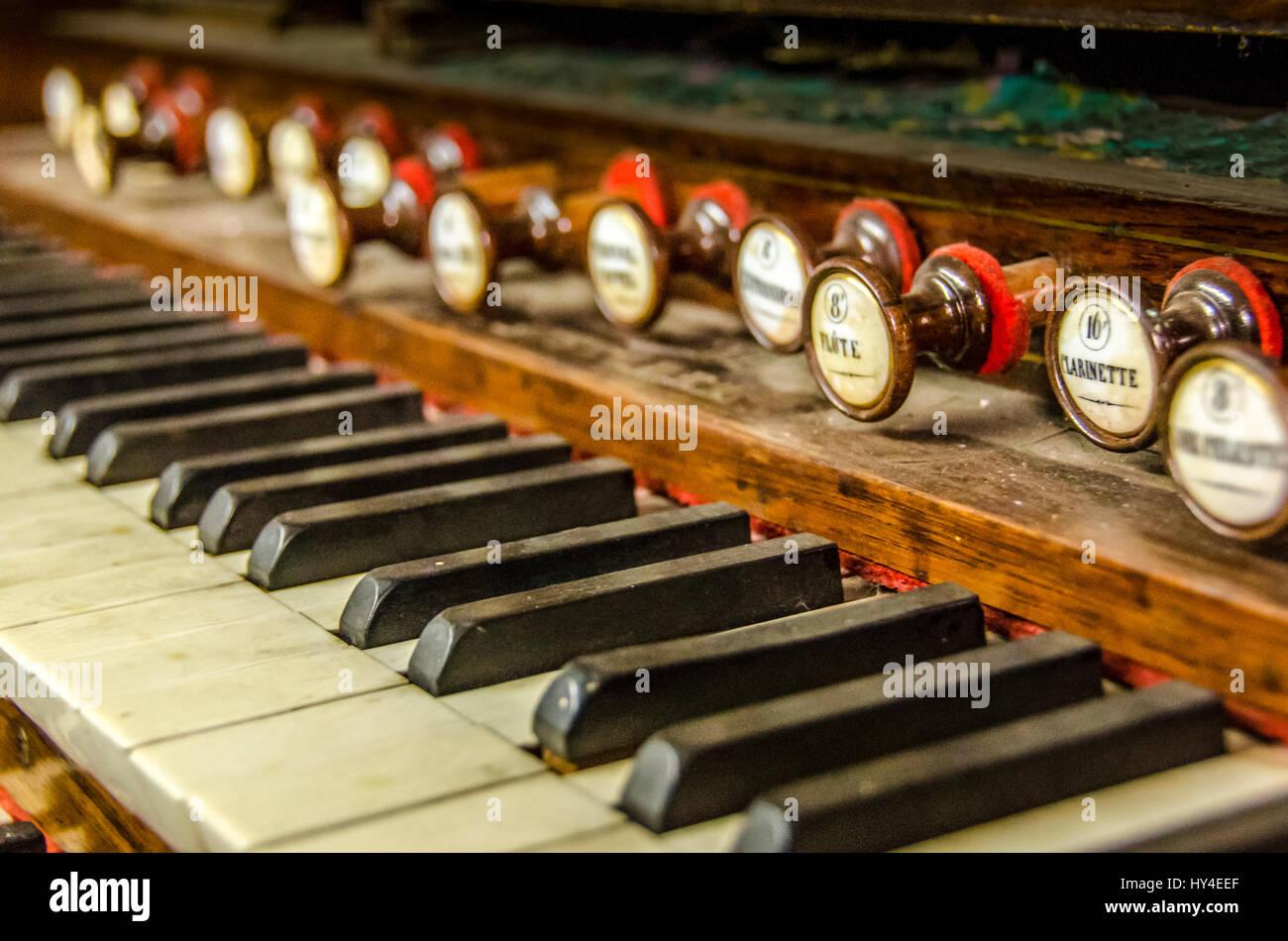 Vintage Organ Piano - Stock Image