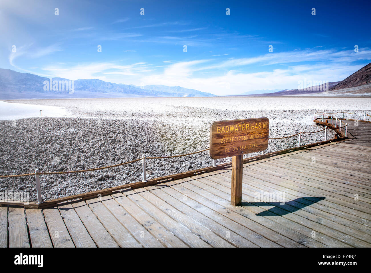 usa california death valley shield badwater basin stock photo