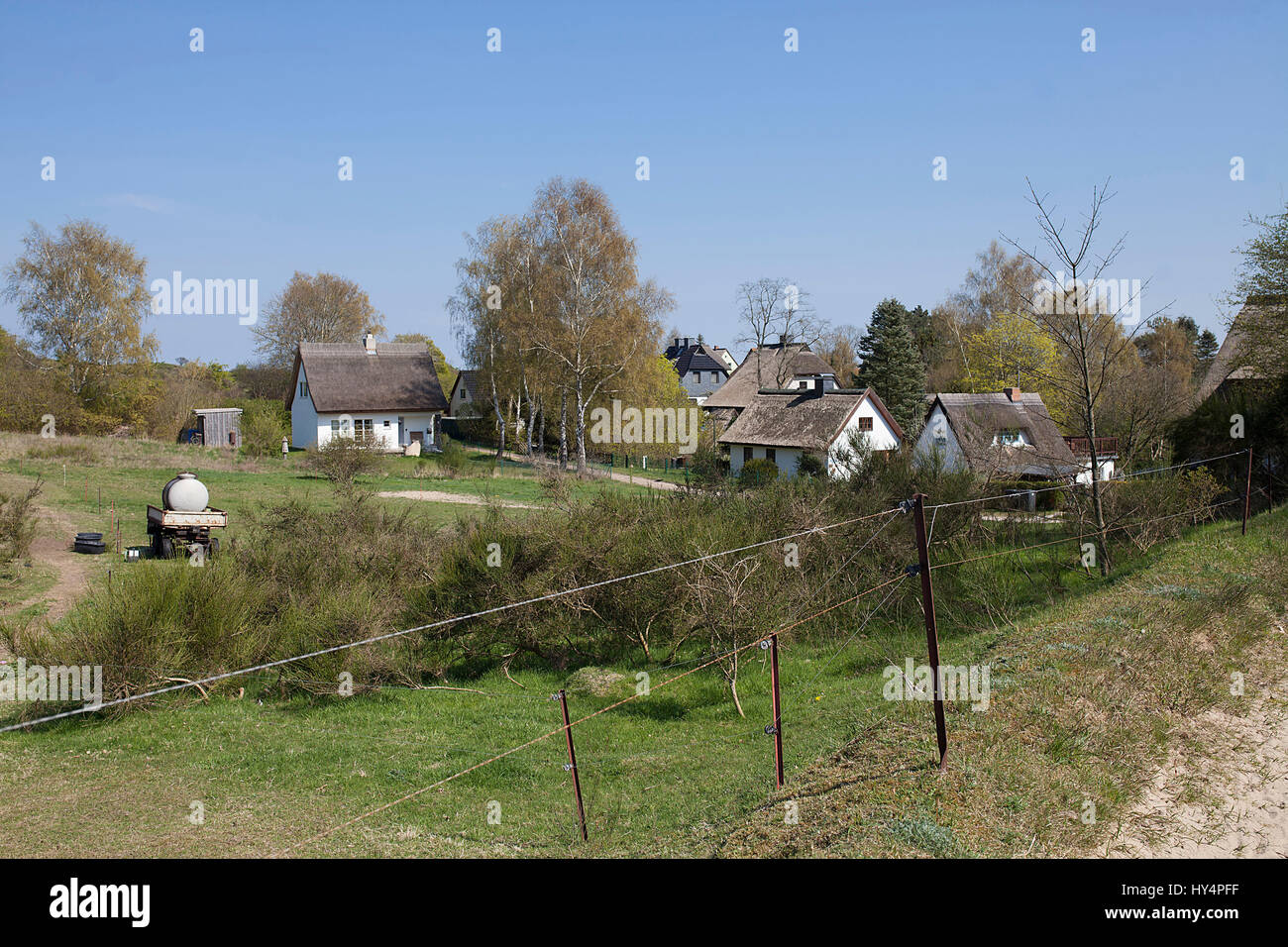path from Dornbusch (Small Island View) to Kloster - Stock Image