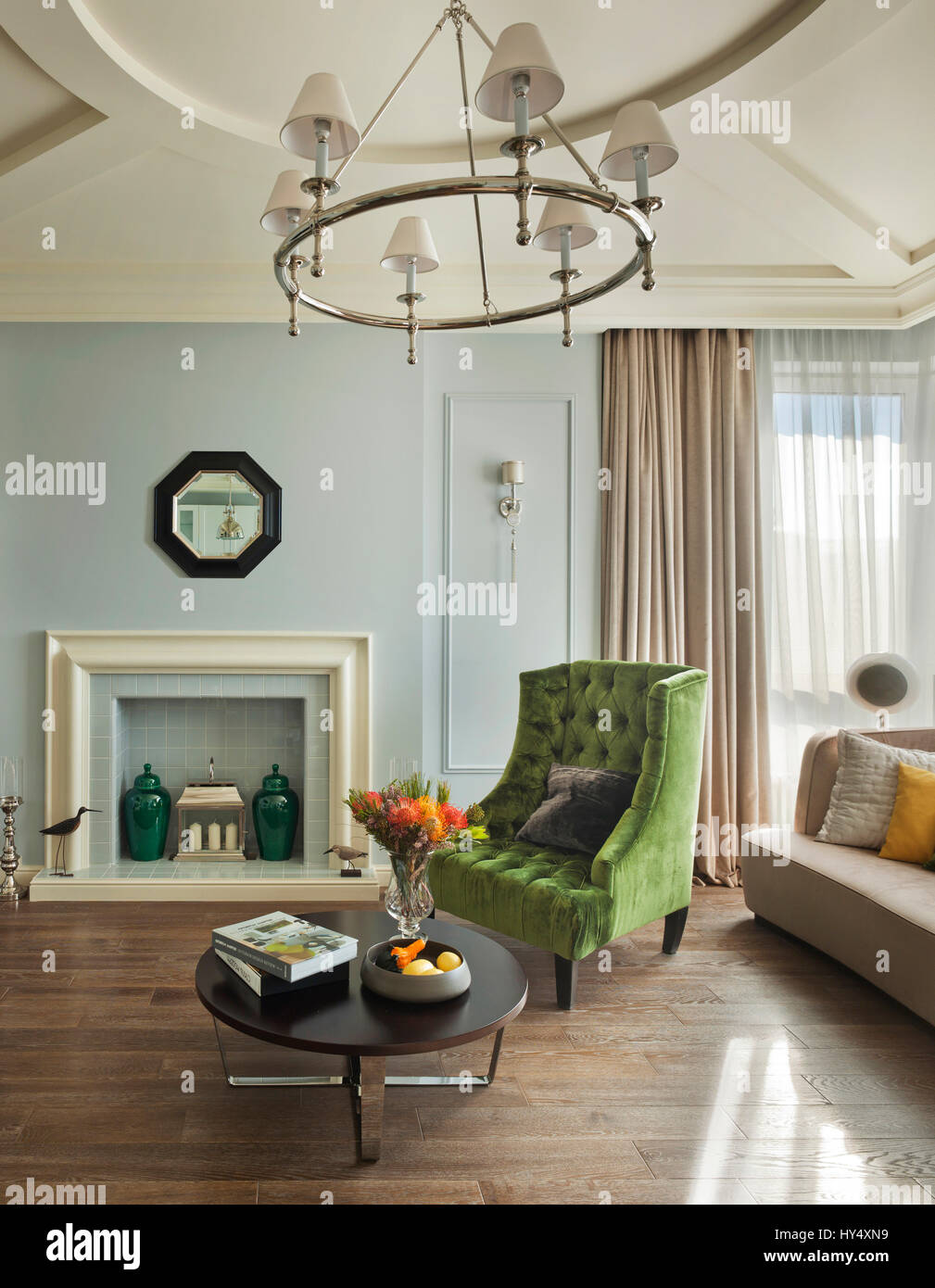Luxury apartment in a classic style in Moscow; interior design classic pastel living room room decordesign exclusive lifestyle rich & Luxury apartment in a classic style in Moscow; interior design Stock ...