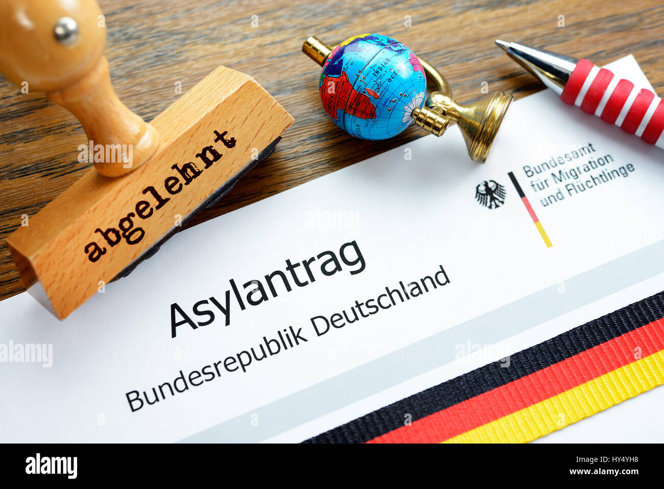 Asylum application, symbolic photo, Asylantrag, Symbolfoto Stock Photo