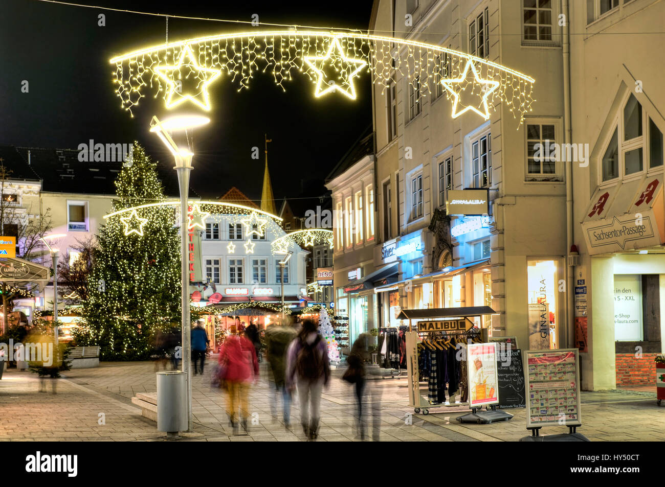 Weihnachtsbeleuchtung Xxl.Christmas Lighting In The Saxon S Gate In Mountain Village Hamburg
