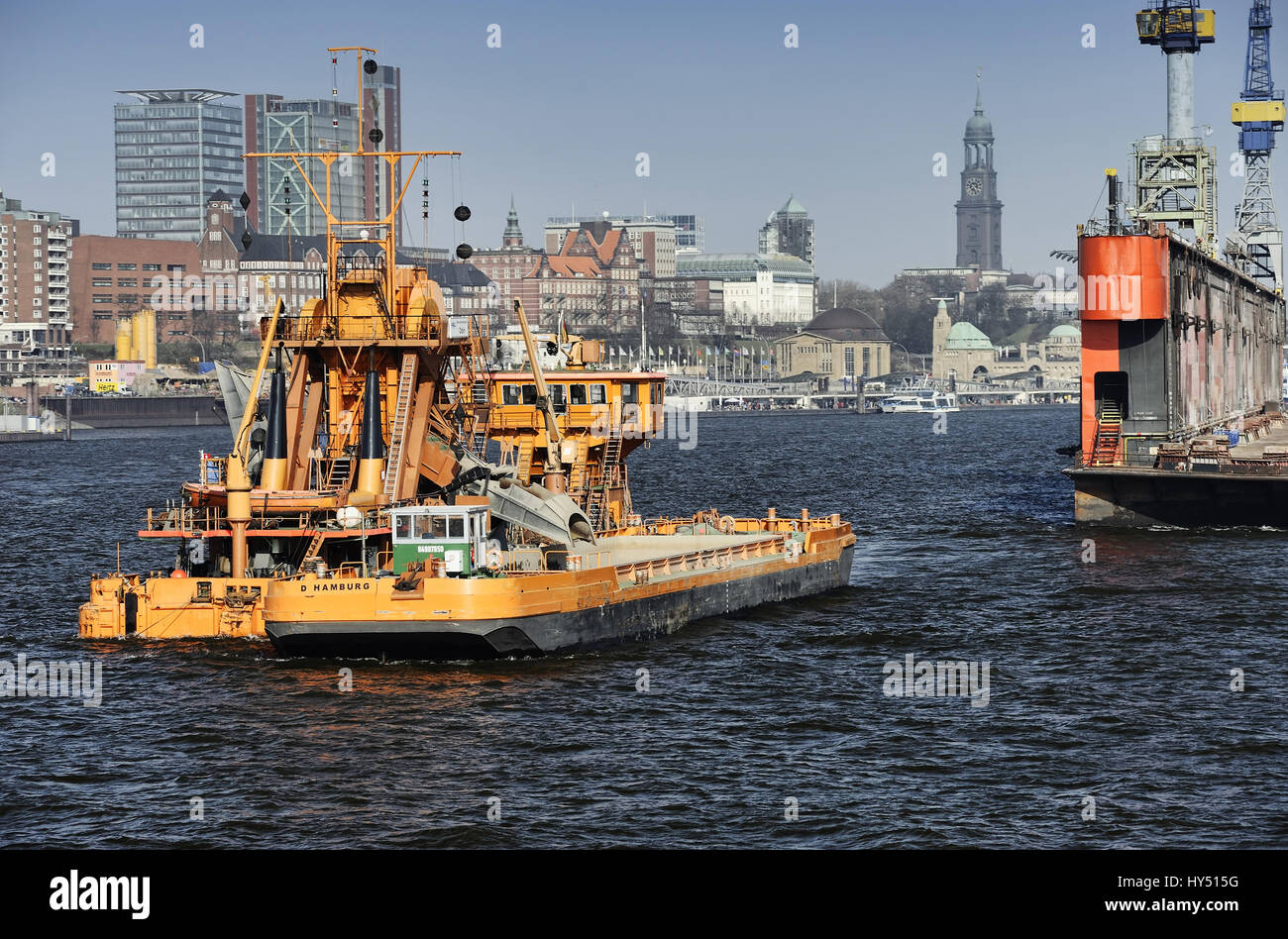 Elbvertiefung: Elbbagger Odin in the Hamburg harbour