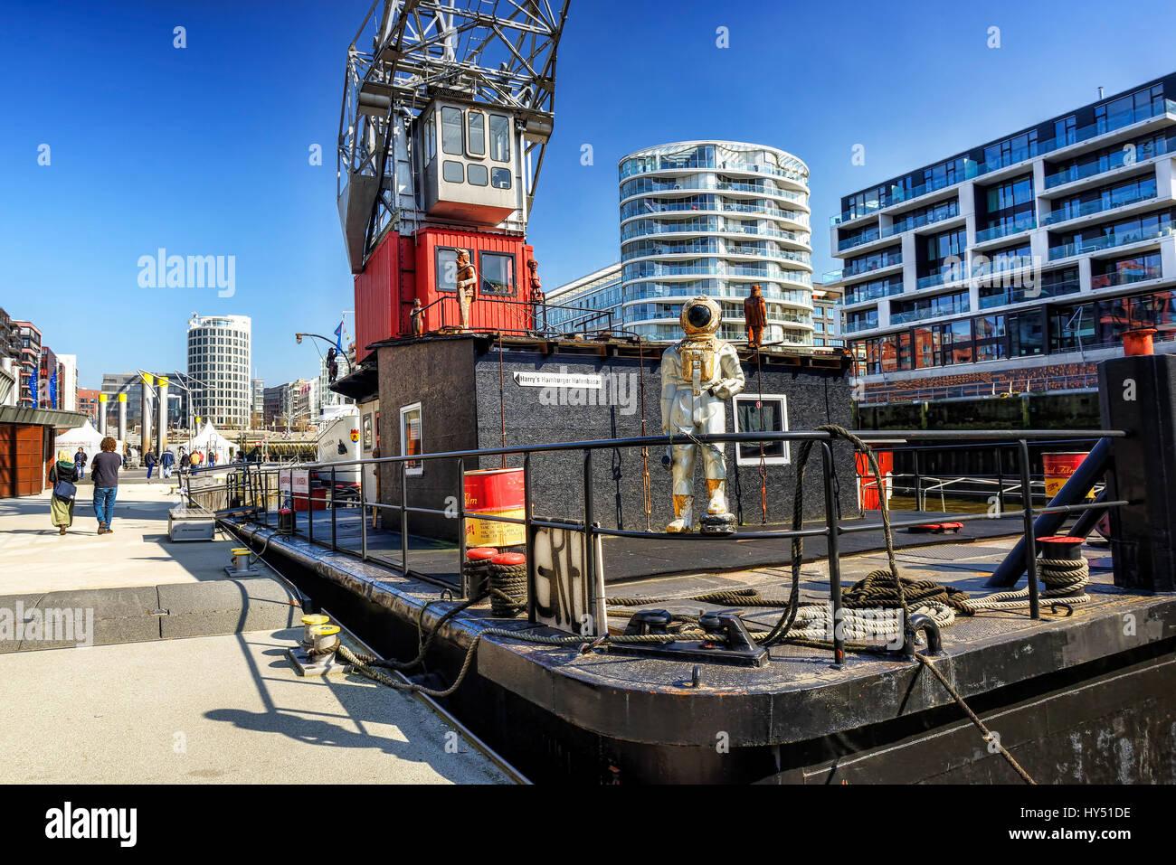 Harry's Hamburg harbour bazaar in the sandy gate harbour in the harbour city of Hamburg, Germany, Europe, Harry's - Stock Image