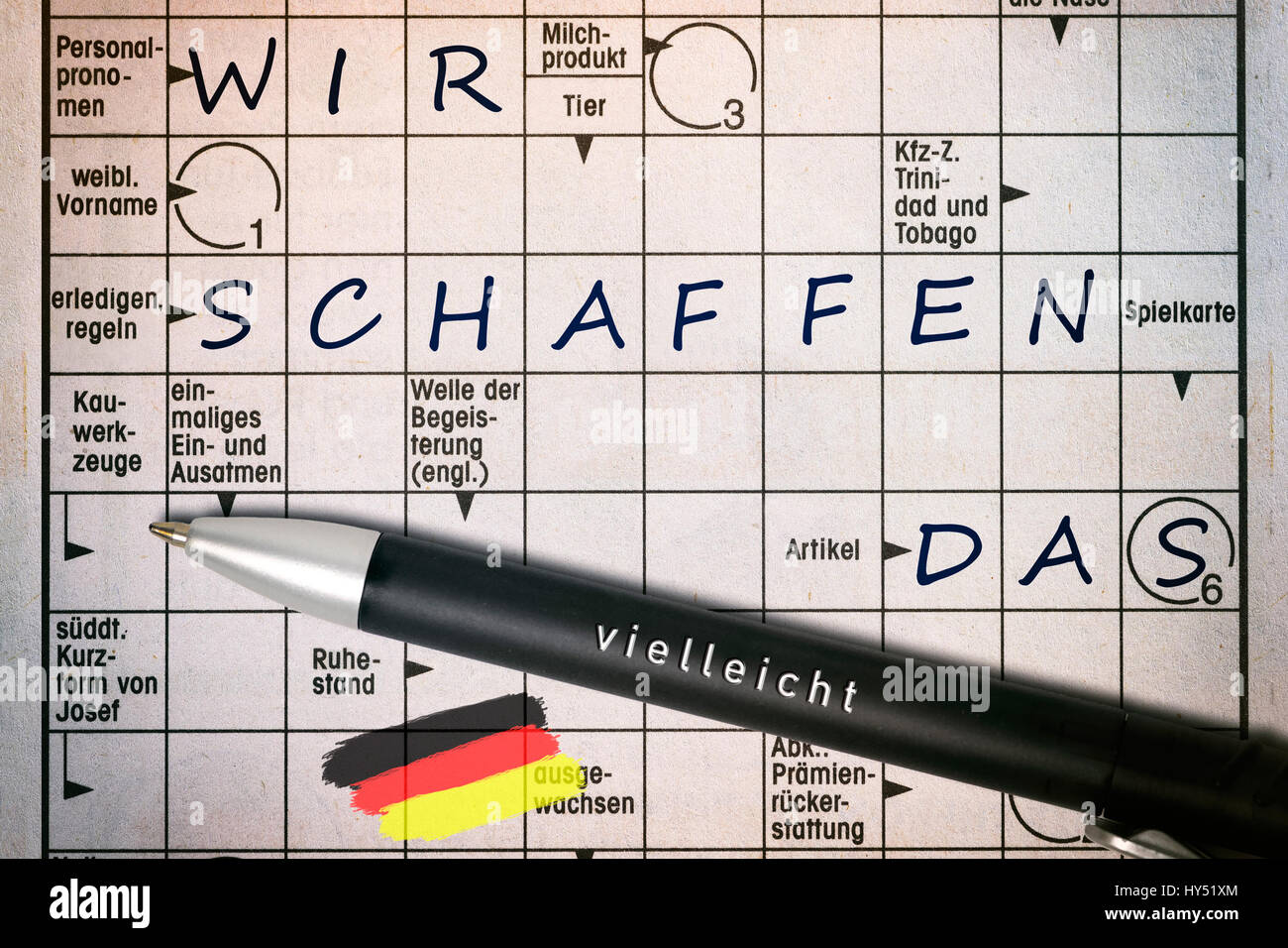 Schon Crossword Puzzles With The Concepts We, Create, The Label Maybe On A  Ballpoint Pen