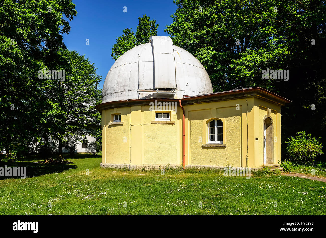Observatory of Hamburg, equatorially in mountain village, Hamburg, Germany, Europe, Sternwarte Hamburg, das aequatorial Stock Photo