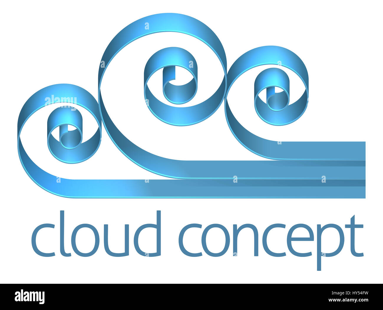 A cloud concept icon design element - Stock Image