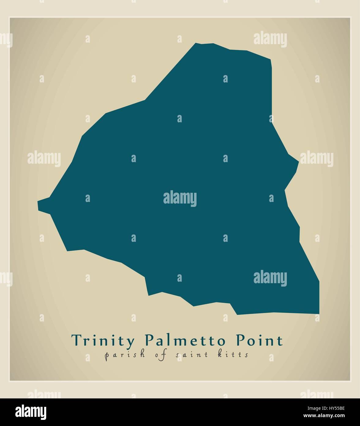 Modern Map - Trinity Palmetto Point KN - Stock Vector