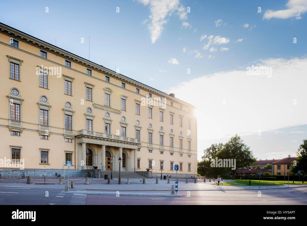 Sweden, Uppland, Uppsala, Building of University Library Stock Photo