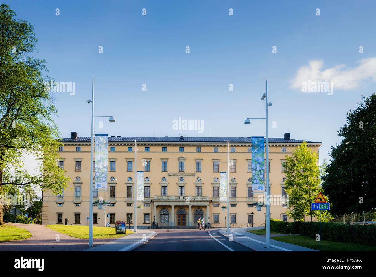 Sweden, Uppland, Uppsala, Facade of University Library Stock Photo