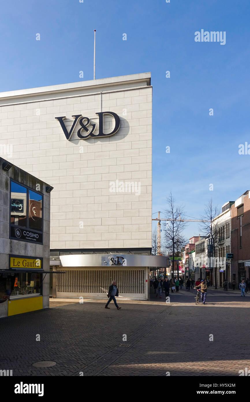 Closed down Vroom & Dreesmann, V&D, Dutch chain of department stores, Heerlen, Limburg, Southern Netherlands - Stock Image