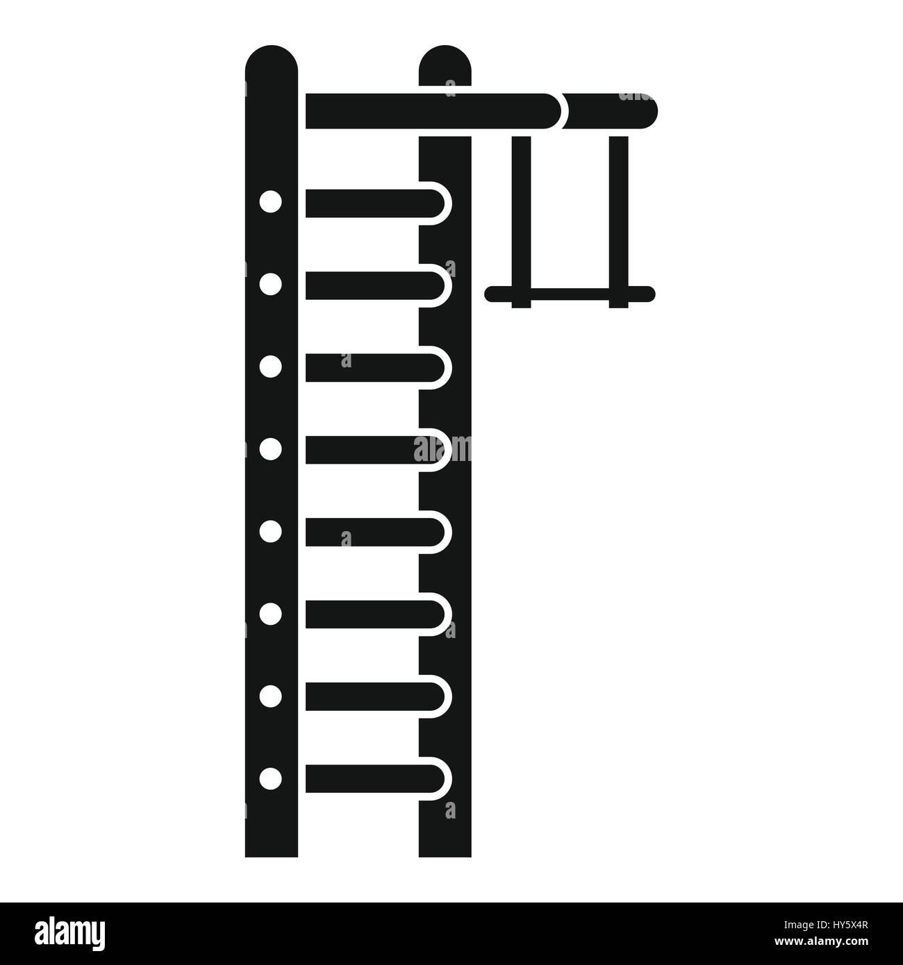 Swedish ladder icon, simple style - Stock Image