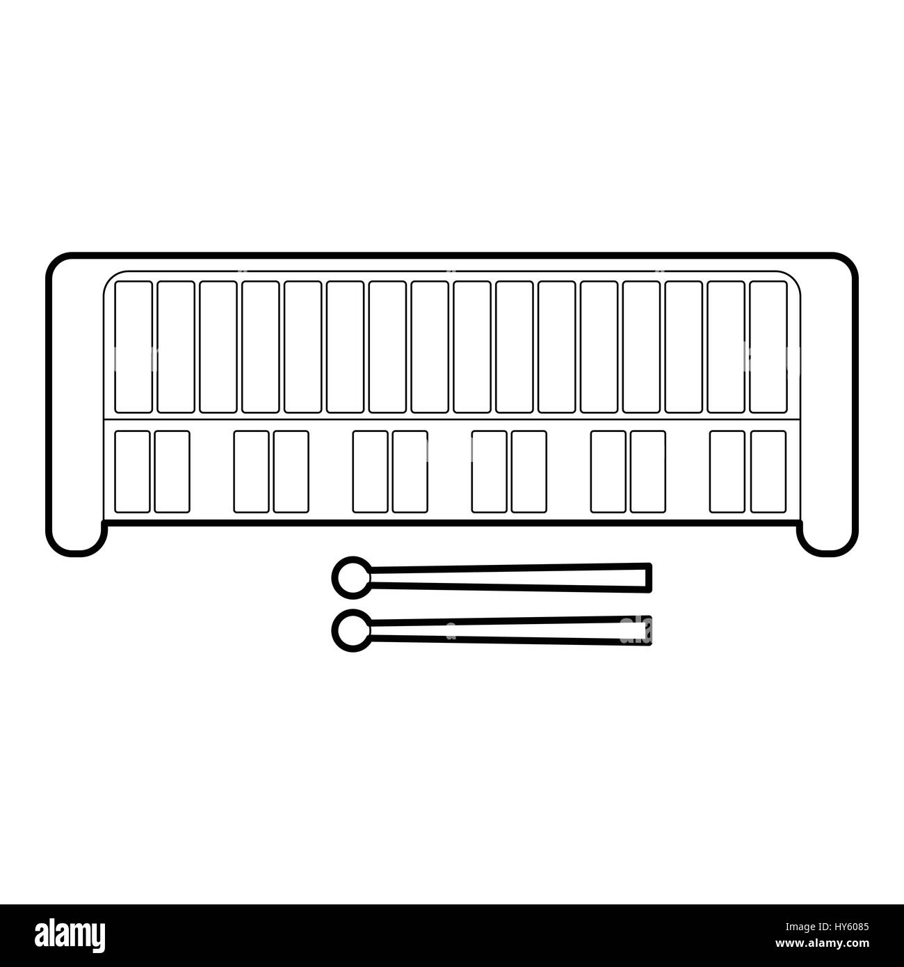 Xylophone Black and White Stock Photos & Images - Alamy