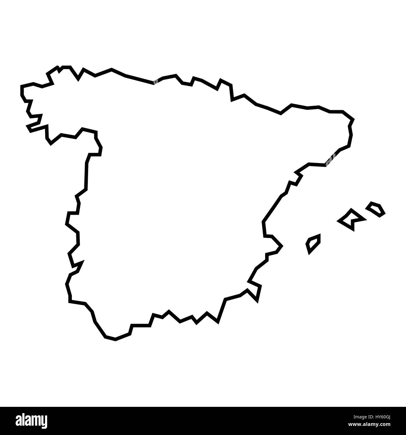 Spain Map Outline Stock Photos Spain Map Outline Stock Images Alamy