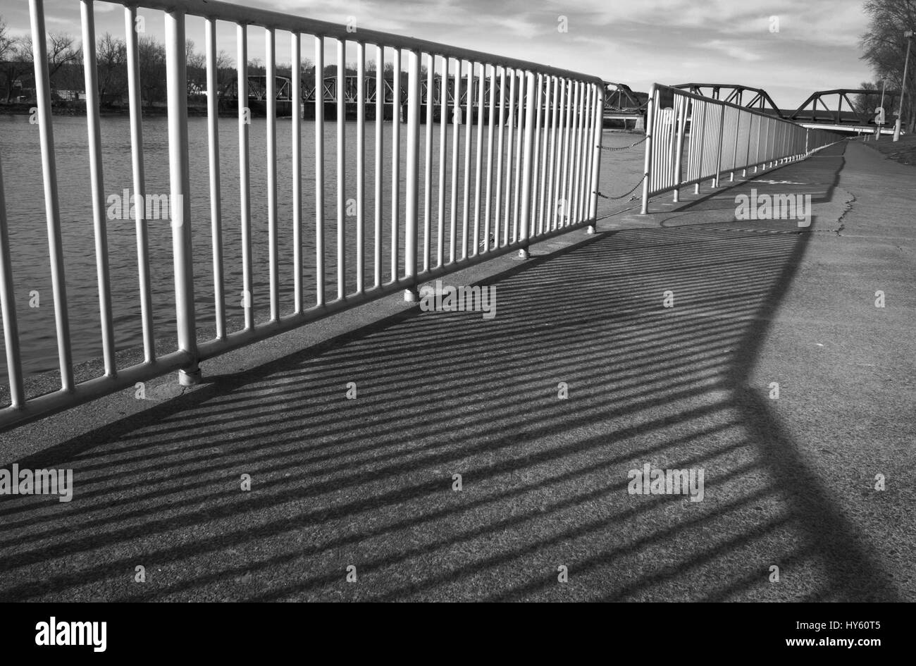 Repetition Railing Shadows - Stock Image
