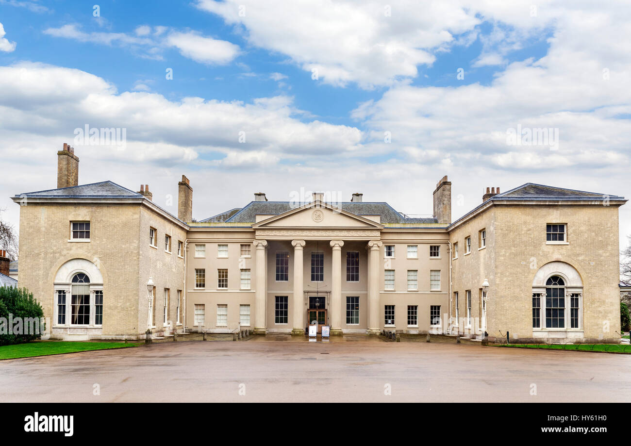 Kenwood House, London. Front entrance to Kenwood House, which underwent major alteration by architect Robert Adam, - Stock Image