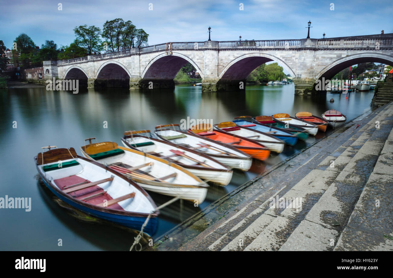 Richmond-upon-Thames Bridge, London - Stock Image