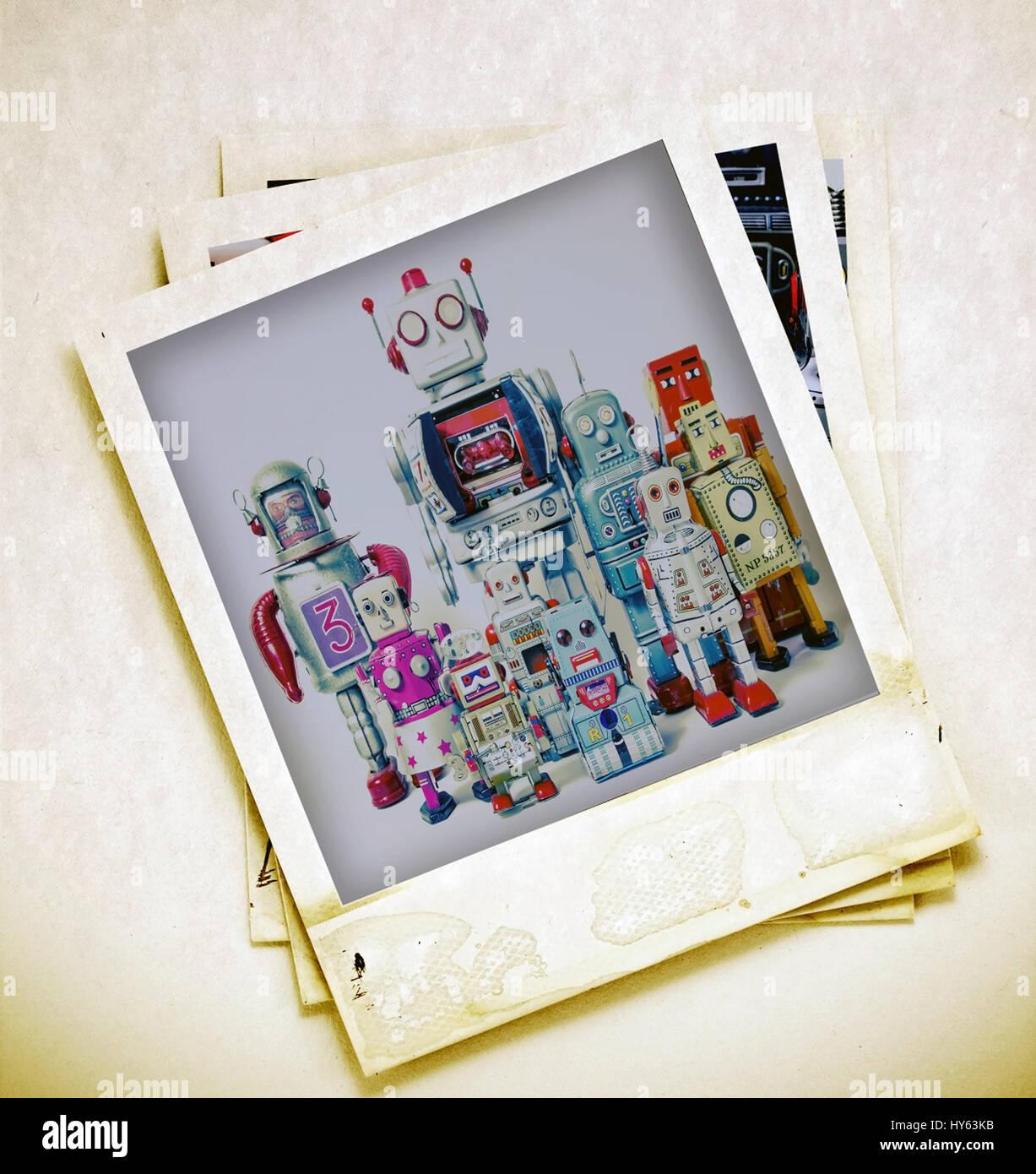 concept family Album polaroid frames - Stock Image