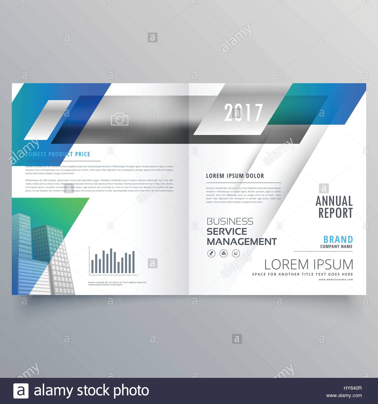 Business Bifold Brochure Template Vector Design Stock Vector Art - Property management brochure templates