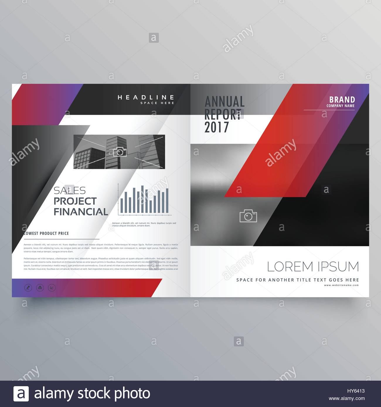 professional business magazine design or bifold brochure template