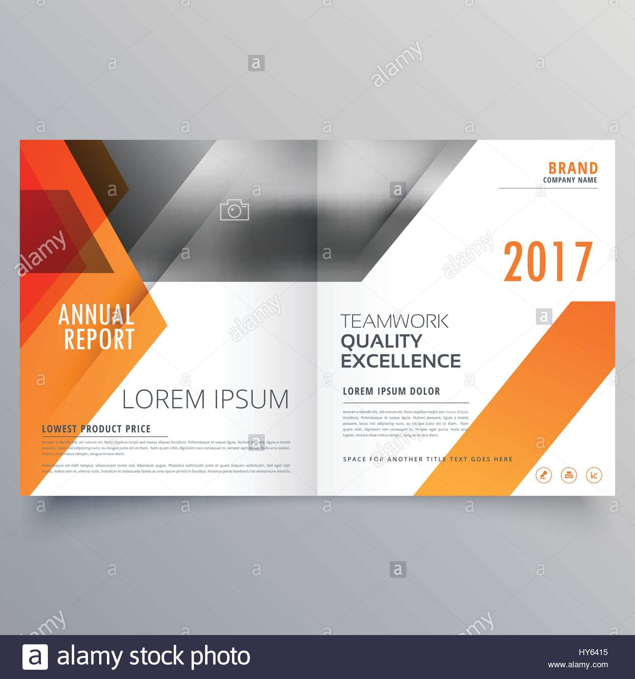 brand magazine cover page design or bifold brochure template vector