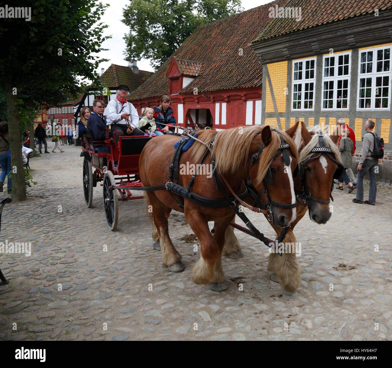 Open air museum The OLD TOWN ( GAMLE BY), Aarhus, Denmark, Scandinavia, Europe Stock Photo