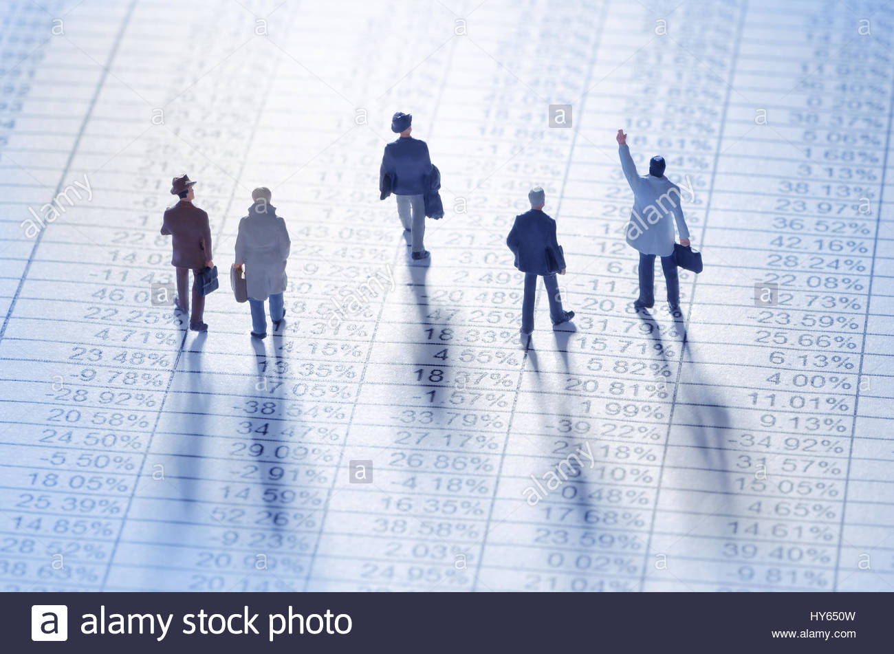 Businessmen playing the stock market - Stock Image