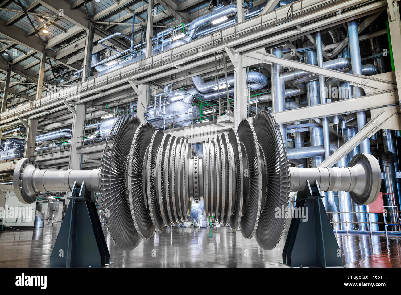 Steam turbine of power generator in an industrial thermal power