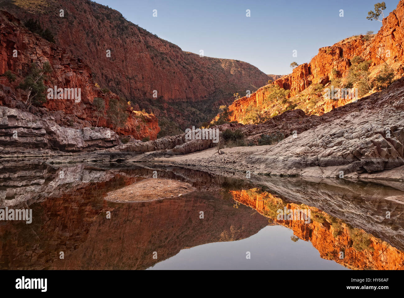 Ormiston Gorge in the West MacDonnell National Park, Australia Northern Territory - Stock Image